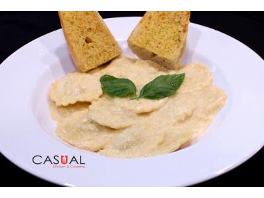 Ricotta cheese ravioli