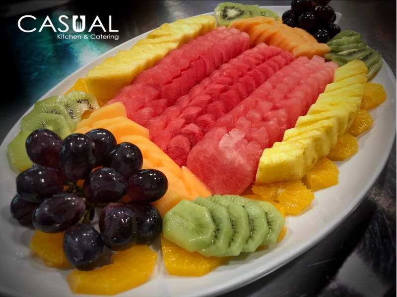 Tray of mixed fruits