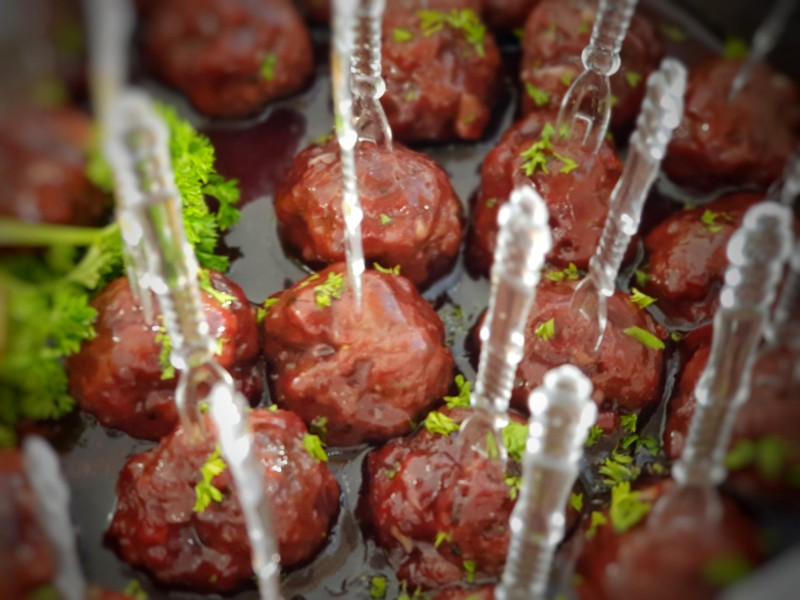Byte size meat balls
