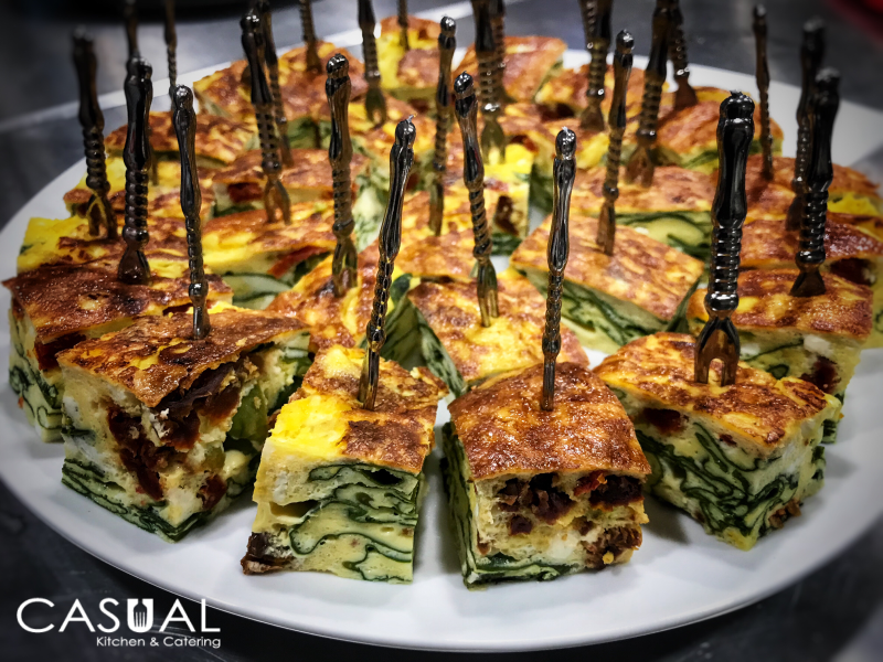 Sun Dried Tomatoes and Spinach Frittata